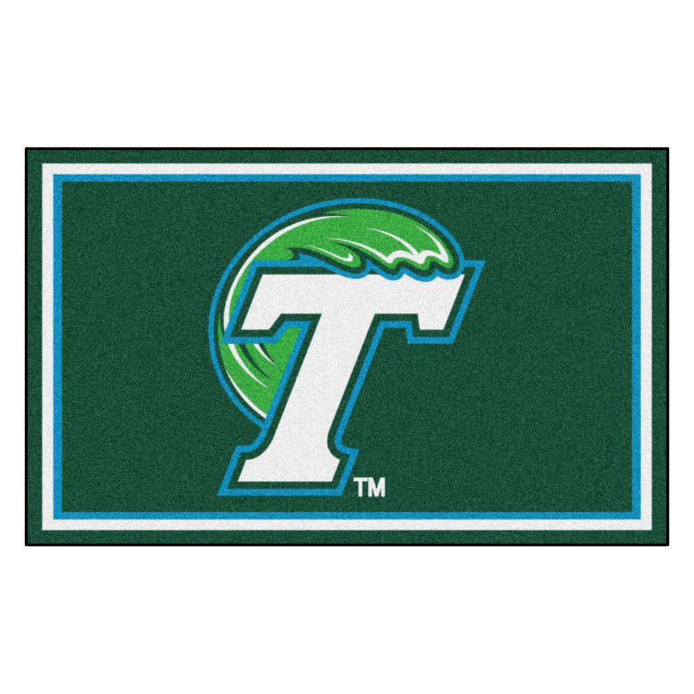 Fanmats Ncaa Tulane University Green 4 Ft X 6 Ft Area