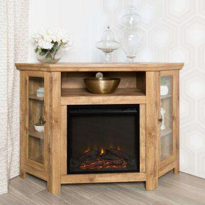 Barnwood Fire Place Entertainment Center