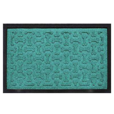 Aquamarine 18 in. x 27 in. Dog Treats Boot Tray