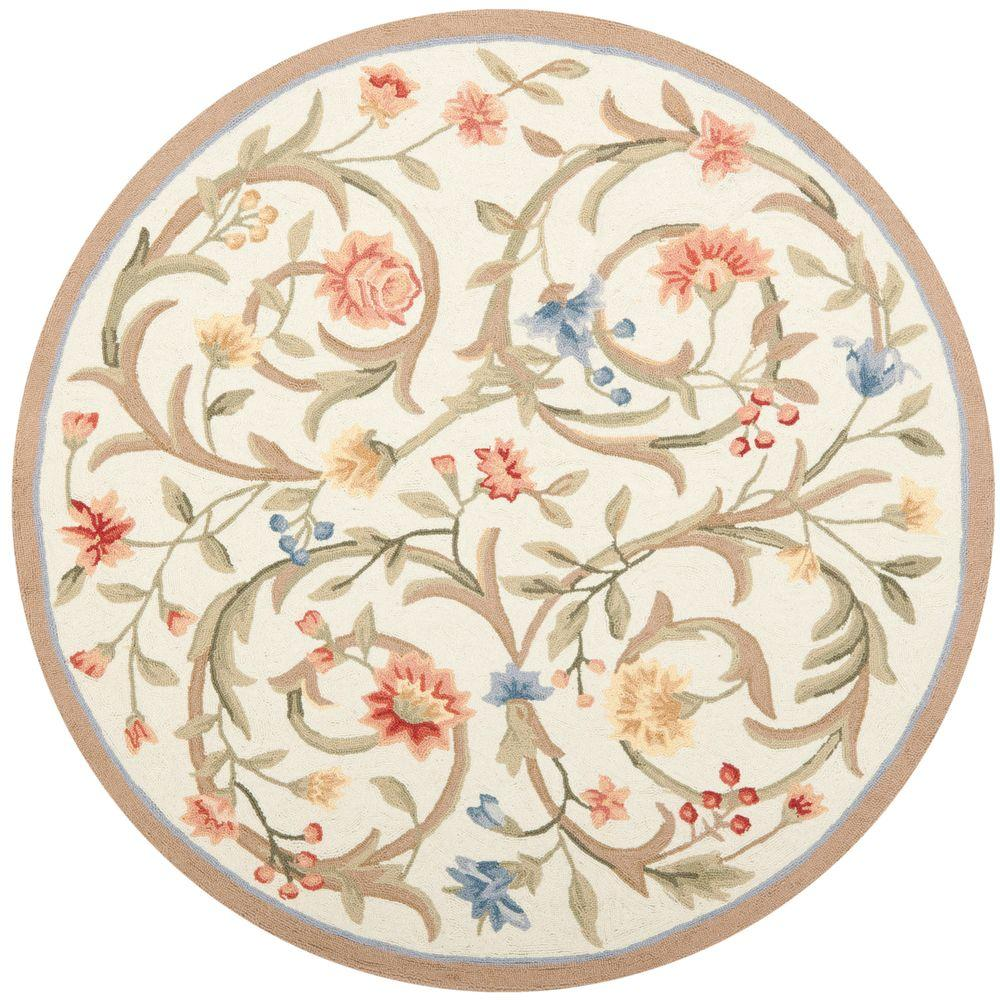 Safavieh Chelsea Ivory 8 Ft X 8 Ft Round Area Rug Hk248a