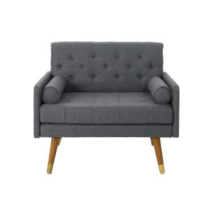 Superb Noble House Eugene Mid Century Modern Tufted Dark Gray Pabps2019 Chair Design Images Pabps2019Com
