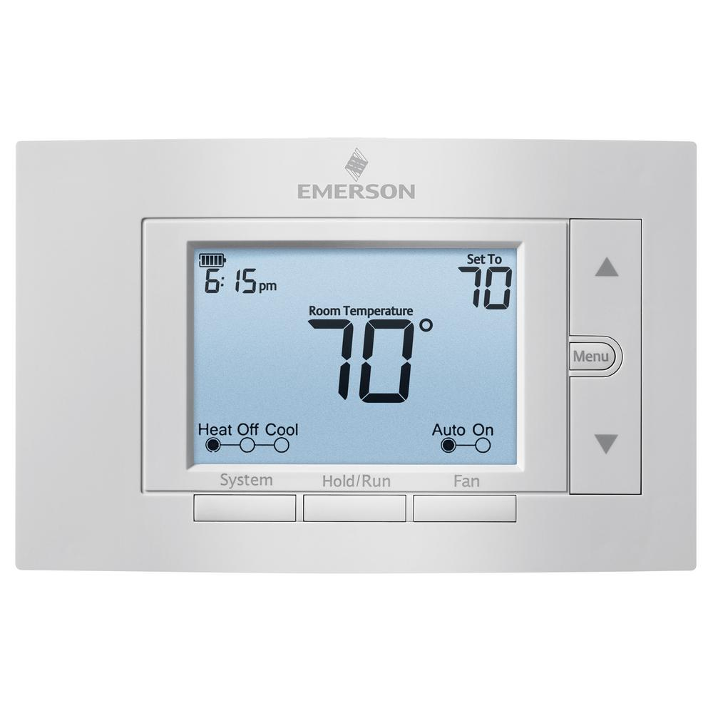 Emerson Blue Easy Set Non-programmable Thermostat-1f86ez-0251