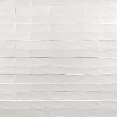 Strait White 3 in. x 12 in. Matte Ceramic Subway Wall Tile (22-Pieces 5.38 sq. ft. / Case)
