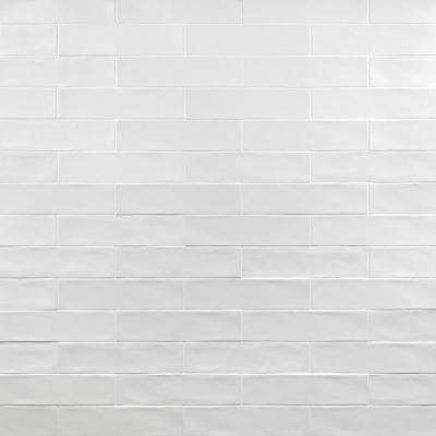 Strait White 3 in. x 12 in. 8 mm Polished Ceramic Subway Wall Tile (22 piece 5.38 sq. ft. / Box)