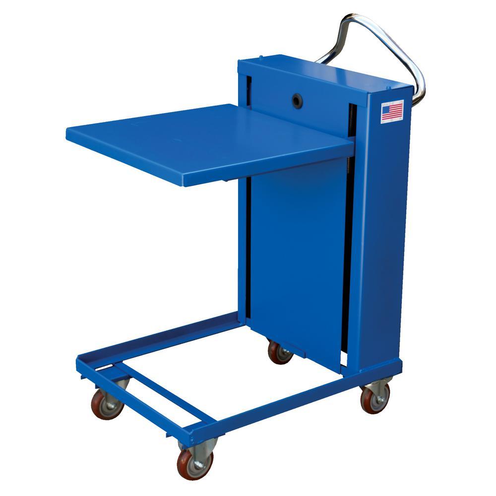 1,120 lb. Capacity 24 in. x 24 in. Self-Elevating Spring Table
