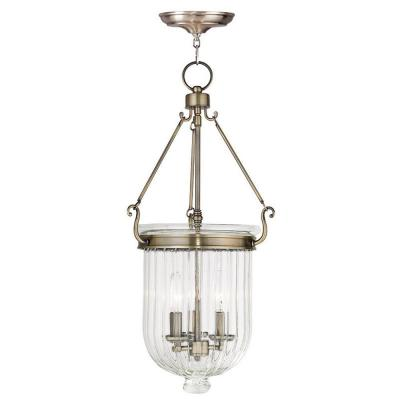 Coventry 3-Light Antique Brass Pendant