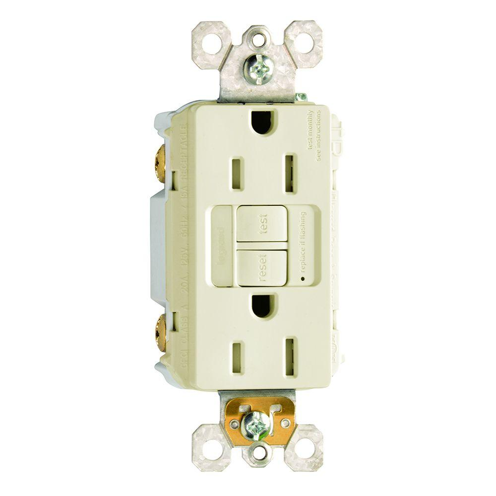 15 Amp 125 Volt Self Test Tamper Resistant Gfci Receptacle With