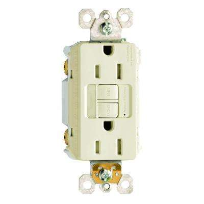 15 Amp 125-Volt Self-Test Tamper-Resistant GFCI Receptacle with Nightlight - Light Almond