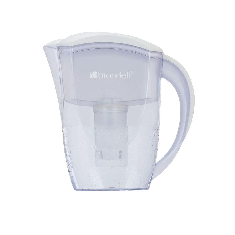 Brondell H2O+ 6 Cup Water Filtration Pitcher in White
