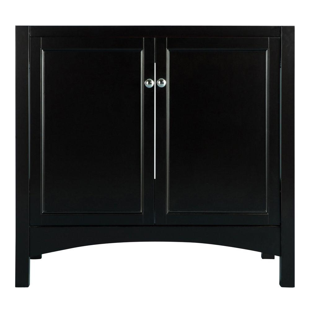 Haven 36 in. Vanity Cabinet Only in Espresso