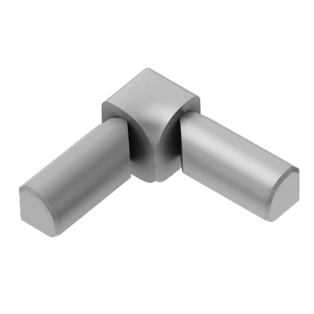 Rondec Satin Anodized Aluminum 1/2 in. x 1 in. Metal 90