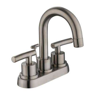 Dorset 4 in. Centerset 2-Handle High-Arc Bathroom Faucet in Brushed Nickel