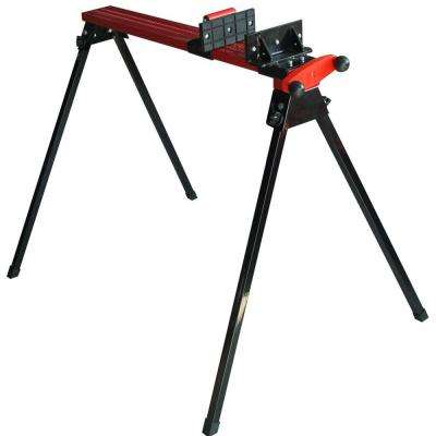 45.5 in. Folding Metal Sawhorse with Clamp