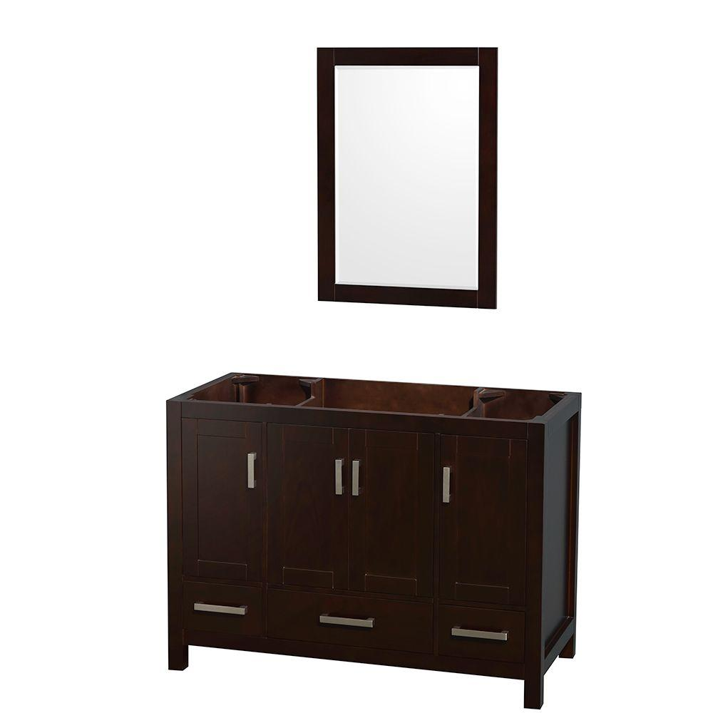 Wyndham Collection Sheffield 48 In Vanity Cabinet With 24