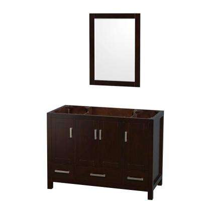 Sheffield 48 in. Vanity Cabinet with 24 in. Mirror in Espresso