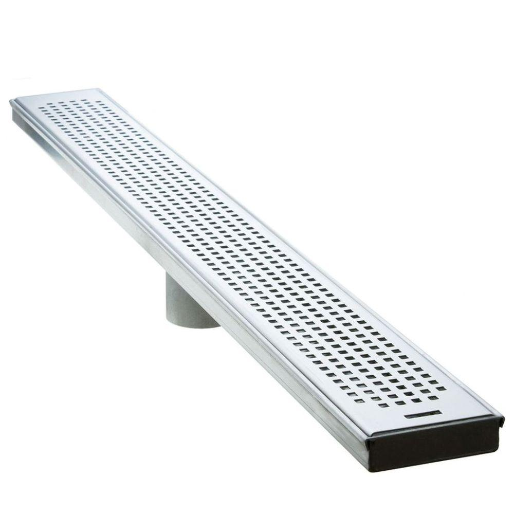 Luxe 60 in. Stainless Steel Linear Shower Drain - Squares