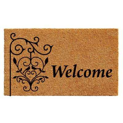 Welcome Post Door Mat 17 in. x 29 in.