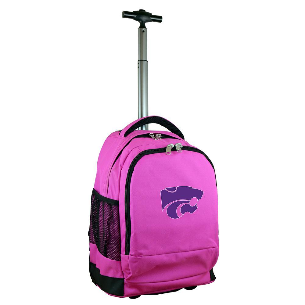 Denco NCAA Kansas State 19 in. Pink Wheeled Premium Backpack