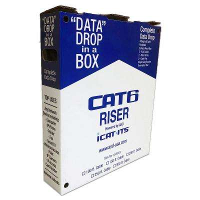 Data Drop-in-a Box Cat6 100 ft. Blue Riser Kit