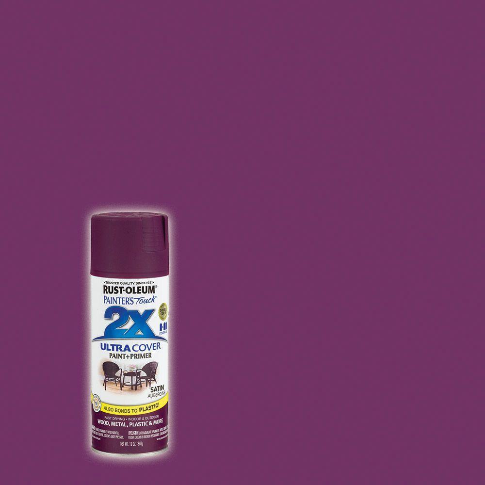 Rust-Oleum Painter's Touch 2X 12 oz. Satin Aubergine General Purpose Spray Paint