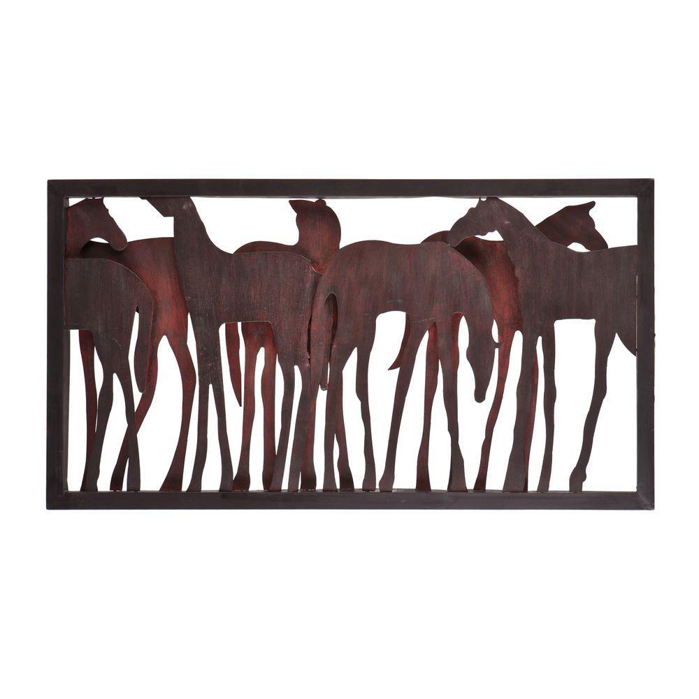 Southern Enterprises Metal Horse Wall Sculpture