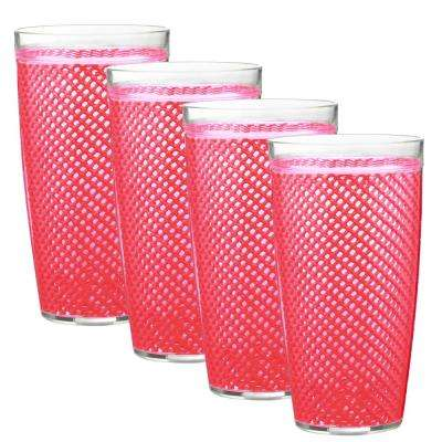 Fishnet 22 oz. Pink Yarrow Insulated Drinkware (Set of 4)