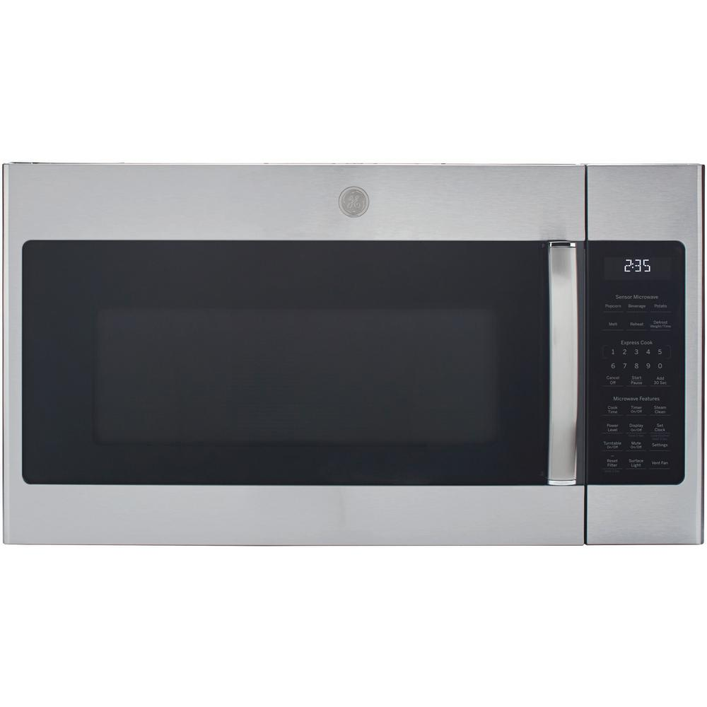 Ge 1 9 Cu Ft Over The Range Microwave In Stainless Steel With Sensor Cooking