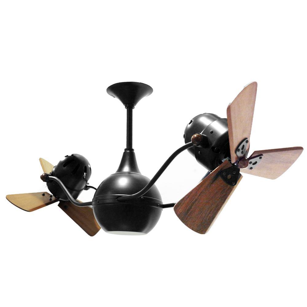 Ralston 44 in. 6-Blade Matte Black Ceiling Fan