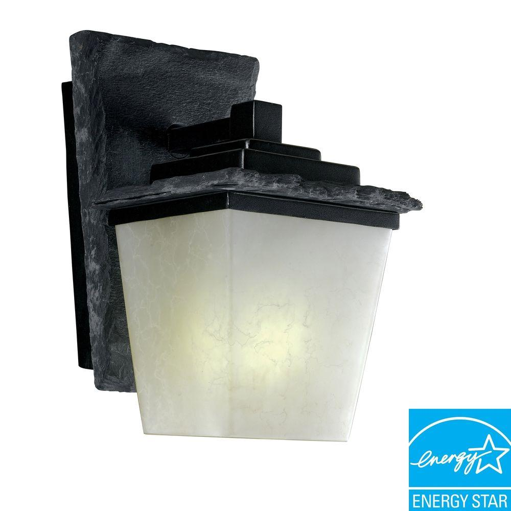 Kenroy Home Flintridge Small Wall Mount Outdoor Slate Lantern-DISCONTINUED