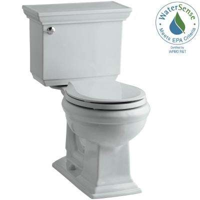 Memoirs Stately 2-piece 1.28 GPF Single Flush Round Toilet with AquaPiston Flushing Technology in Ice Grey