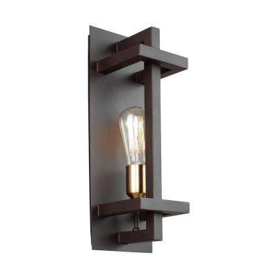 Finnegan 1-Light New World Bronze Wall Sconce