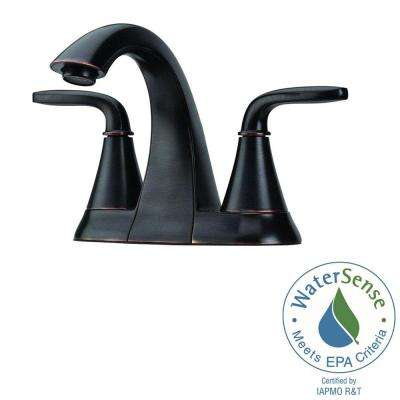 Pasadena 4 in. Centerset 2-Handle Bathroom Faucet in Tuscan Bronze