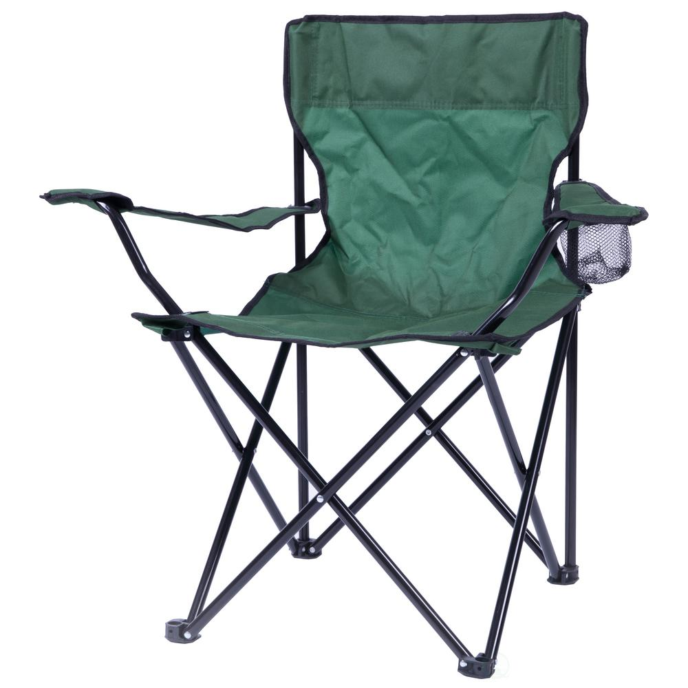Playberg Portable Folding Outdoor Camping Chair With Can Holder