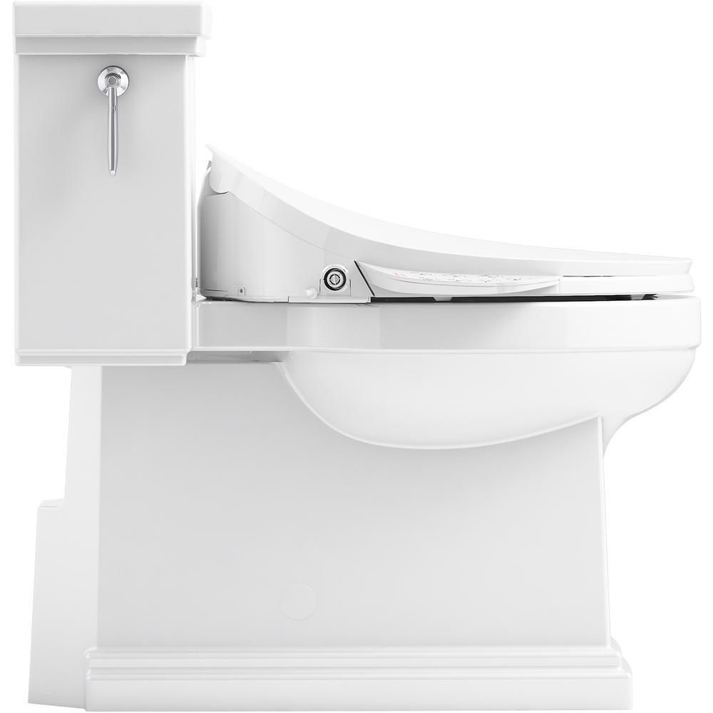 Groovy Kohler Tresham 1 Piece 1 28 Gpf Single Flush Elongated Toilet With C3 230 Electric Bidet Toilet Seat In White Ncnpc Chair Design For Home Ncnpcorg