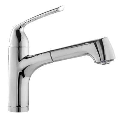 Calia Single-Handle Bar Faucet with Pull Out and CeraDox Technology in Polished Chrome