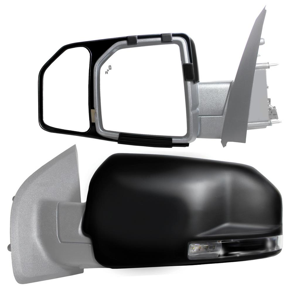 Snap Zap Clip On Towing Mirror Set For 2015 2018 Ford F 150