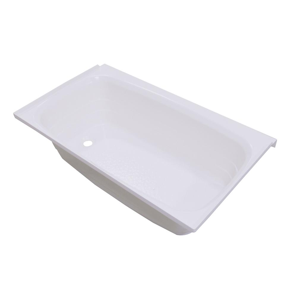 Lippert Components ABS Acrylic Bathtub with Left Drain in White - 24 in  x  40 in