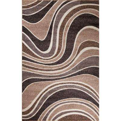 Matrix Collection Skyland Brown 6 ft. 7 in. x 9 ft. 6 in. Area Rug