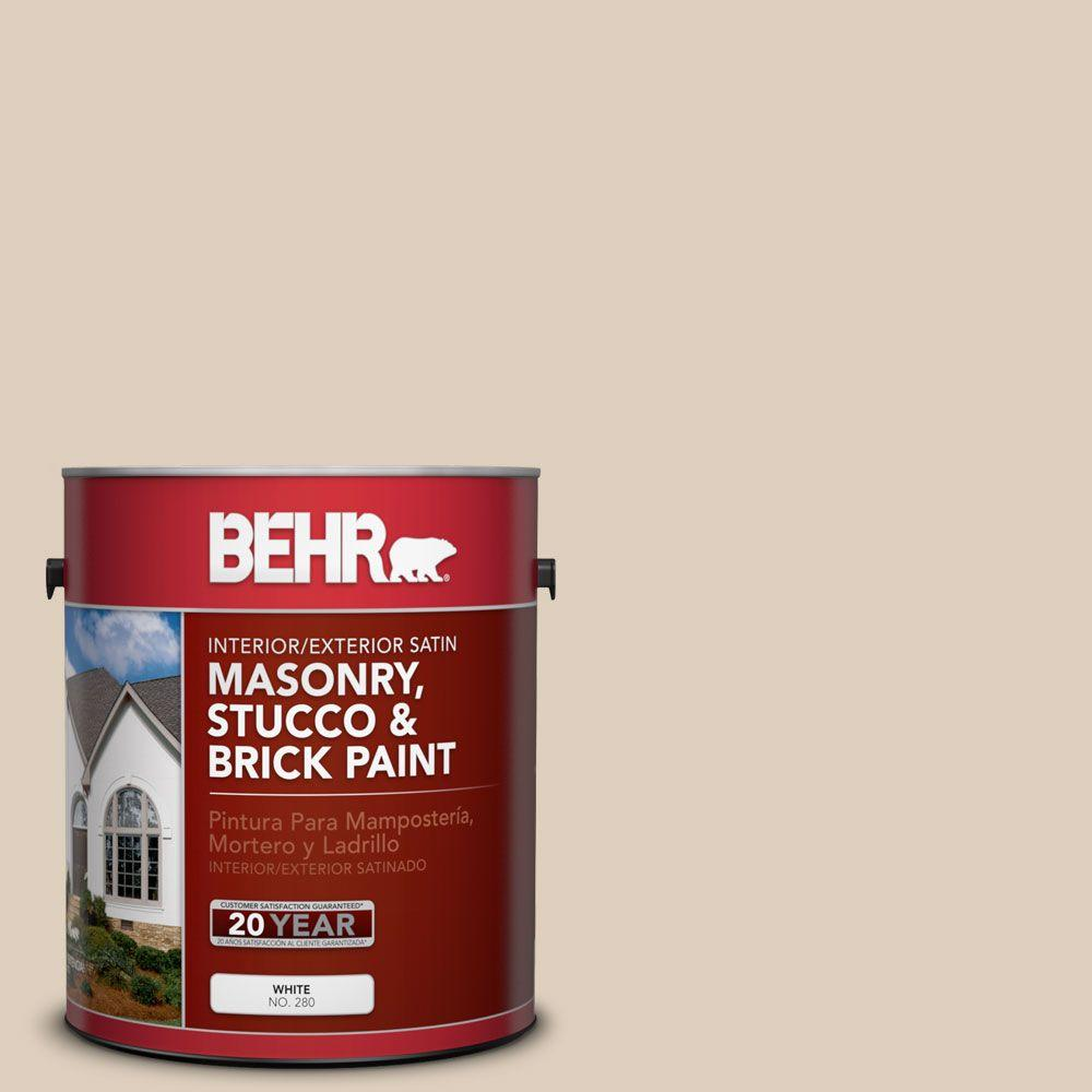 1 gal. #MS-21 Spanish Tan Satin Interior/Exterior Masonry, Stucco and Brick
