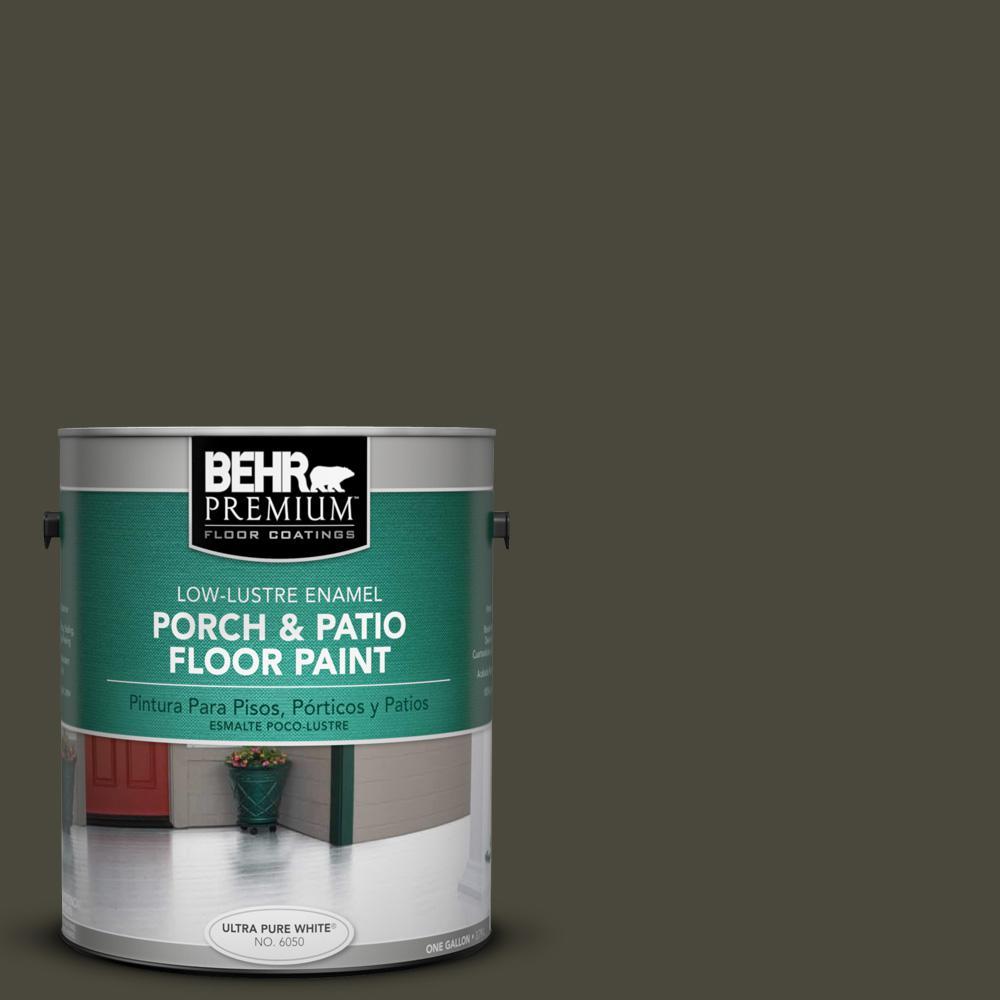 1 gal. #PPU24-01 Black Mocha Low-Lustre Porch and Patio Floor Paint