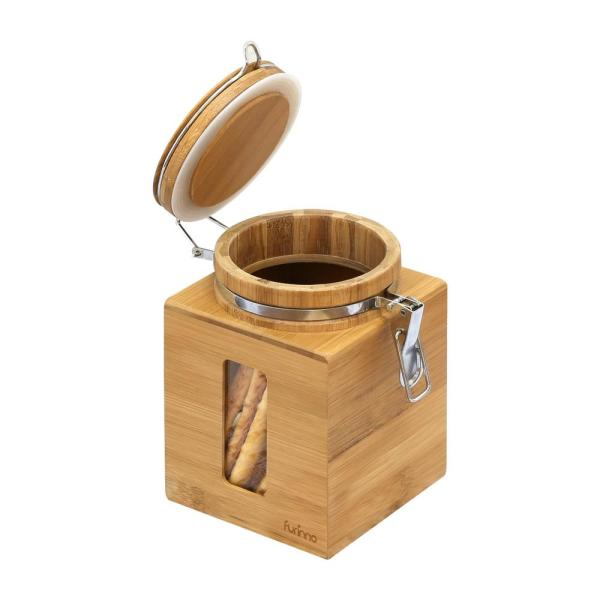 Furinno DaPur Small Natural Bamboo Tight Canister FK8959