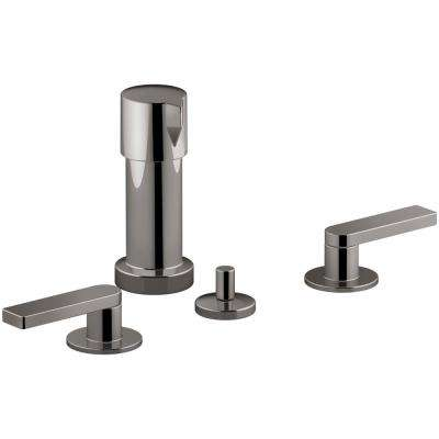 Composed 2-Handle Bidet Faucet in Titanium