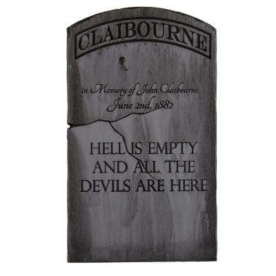 24 in. x 14 in. Halloween Yard Tombstone Claibourne
