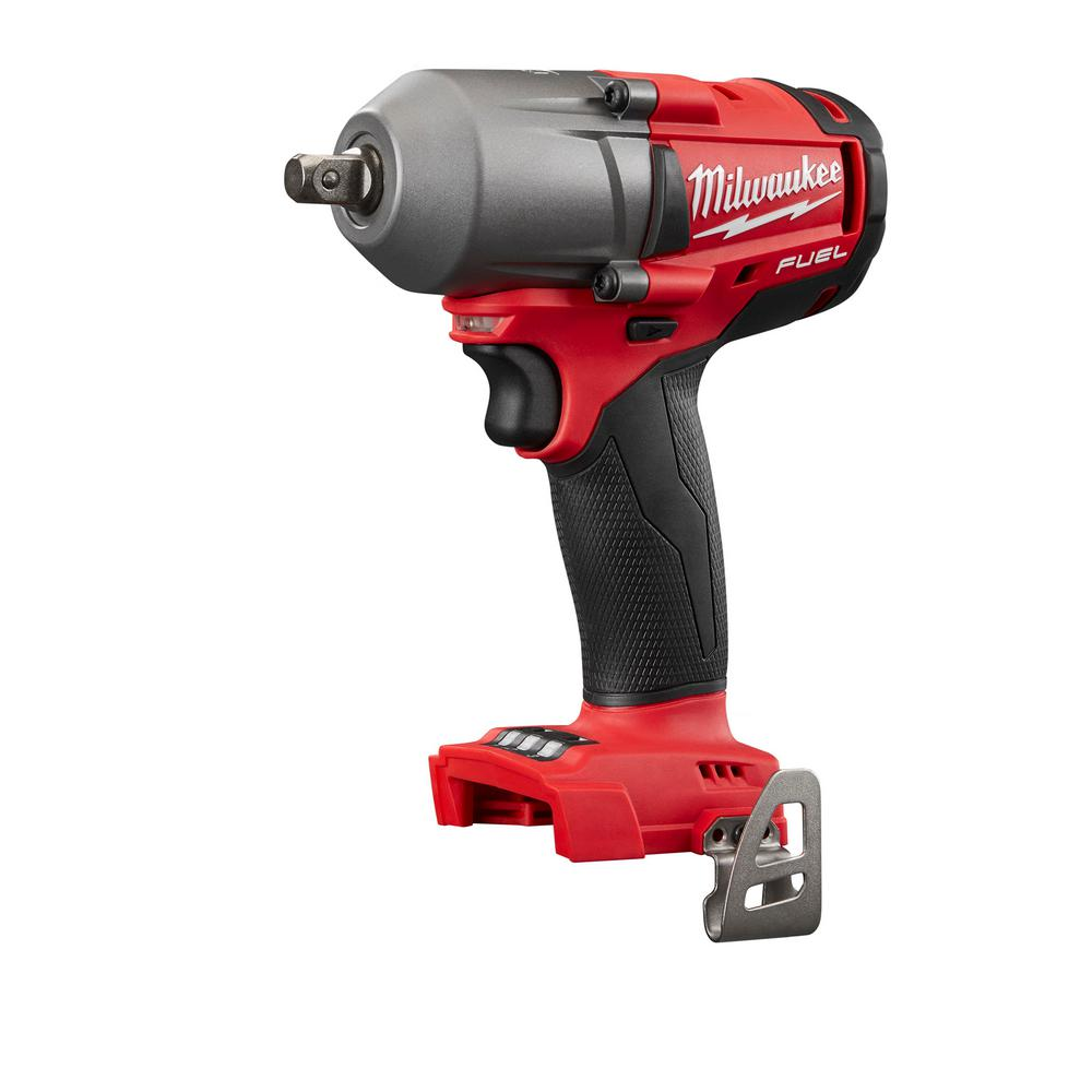 M18 Fuel 18 Volt Lithium Ion Brushless Cordless Mid Torque 1 2 In Impact Wrench W Pin Detent Tool Only