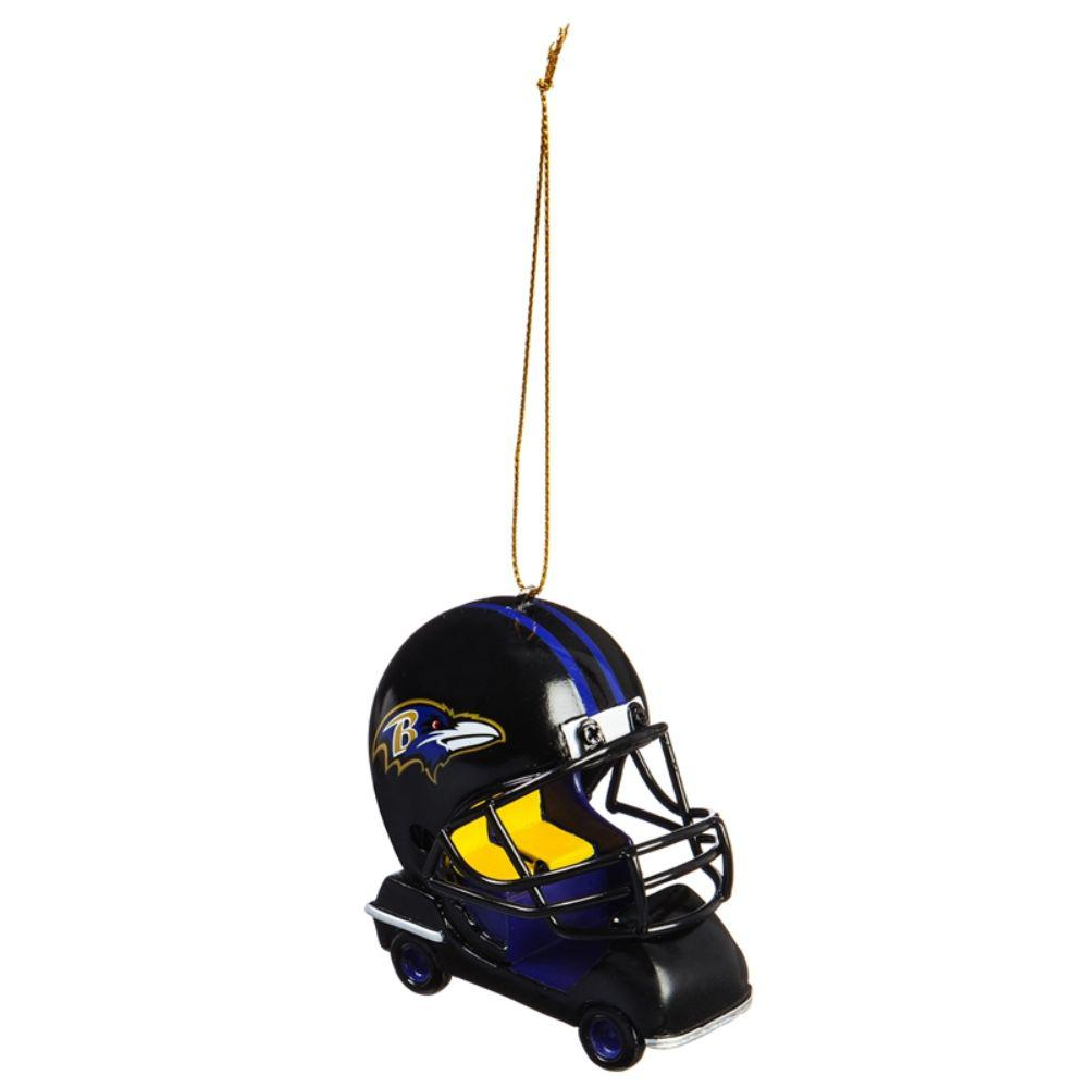 Team Sports America Baltimore Ravens 3 in. NFL Field Car Christmas Ornament