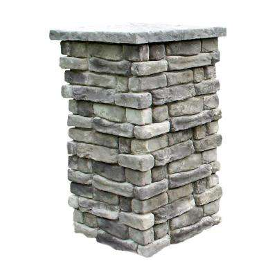 Random Stone Gray 36 in. Outdoor Decorative Column