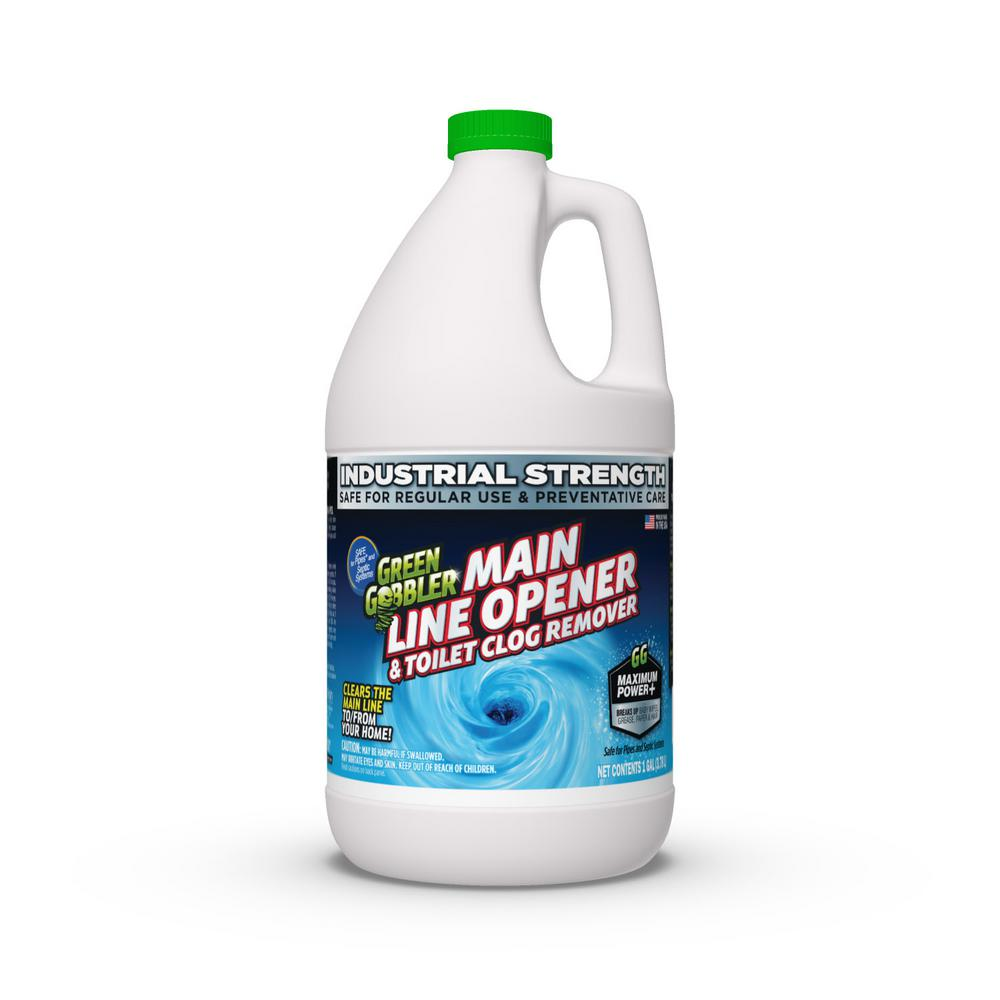 ECOWORKS Green Gobbler 1 Gal. Main Line Cleaner and Clear Drain Opener