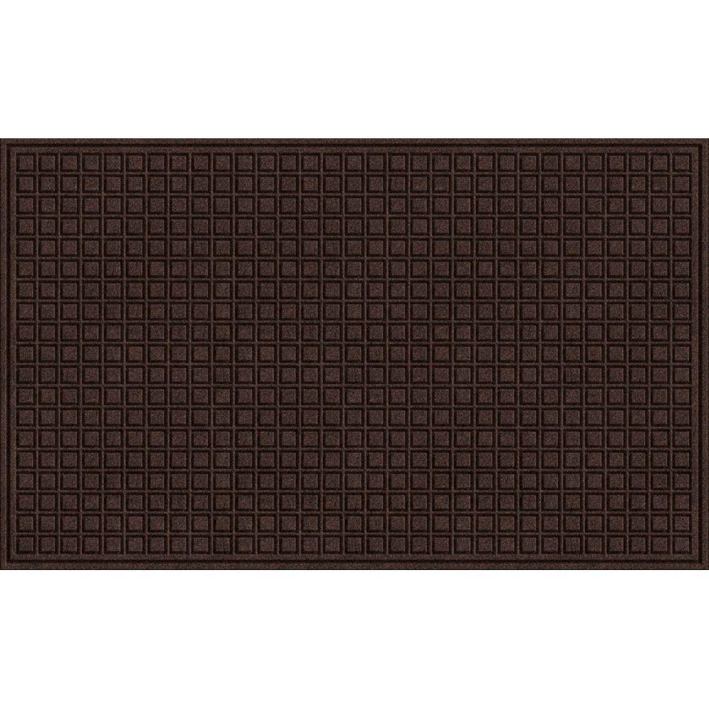 TrafficMASTER Brown 36 in  x 60 in  Synthetic Fiber and Recycled Rubber  Commercial Door Mat