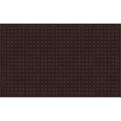 Brown 36 in. x 60 in. Synthetic Fiber and Recycled Rubber Commercial Door Mat