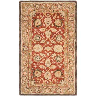 Anatolia Rust/Green 3 ft. x 5 ft. Area Rug